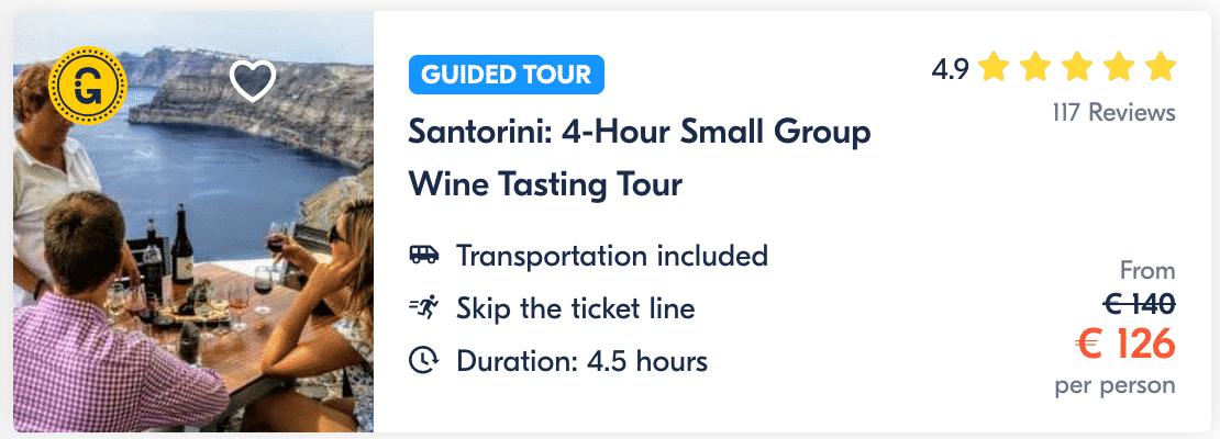 Santorini 4-Hour Small Group Wine Tasting Tour