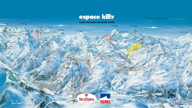 Val d Isere Tignes Ski Map Slopes Pistes
