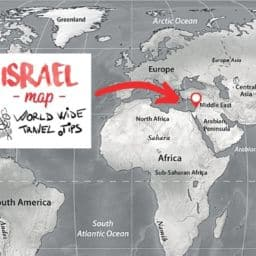 What continent is Israel on map