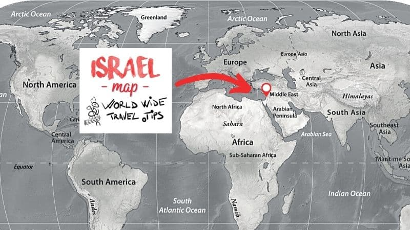 What continent is Israel on the world map