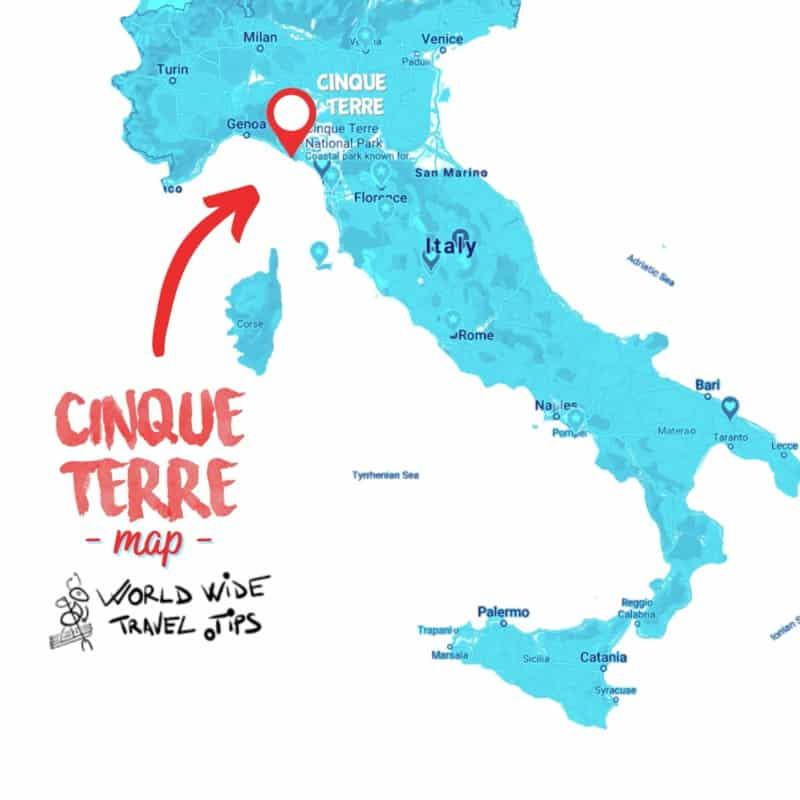 Where is Cinque Terre on Italy Map
