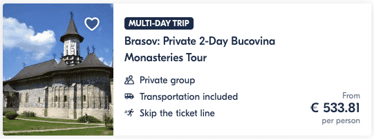 Guide Brasov Private 2-Day Bucovina Monasteries Tour