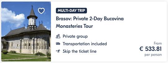 Guide Brasov Private 2-Day Bucovina Monasteries Tour