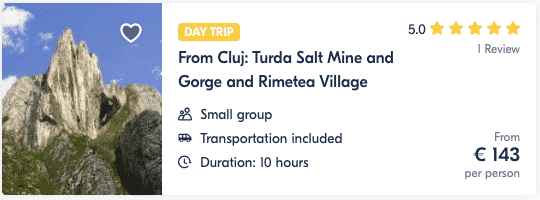 Tour From Cluj Turda Salt Mine and Gorge and Rimetea Village