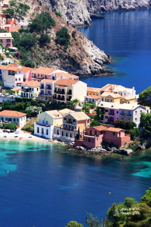 Kefalonia Greek Town on Greece Islands