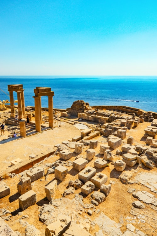 Lindos Greek Temple Rhodes