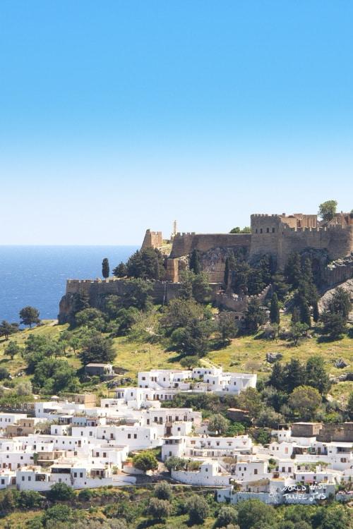 Lindos Town Greek Island Rhodes