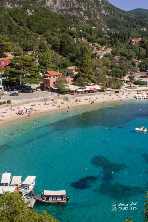 Paleokastritsa Beach Corfu Ioninan Sea Greek Beaches