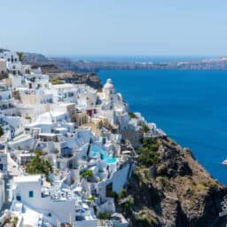 Santorini Beach Greece Red Beach Santorini Greece Fira Thera Oia Santorini Greece Town Greek islands weather October