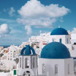 Santorini Greek Island with airport (JTR) Greece best greek islands to visit in June