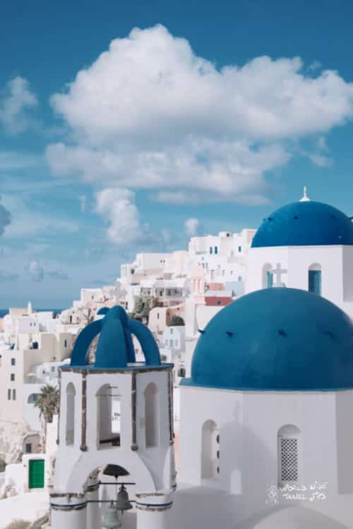 Most beautiful island in Greece Santorini Greek Island with airport