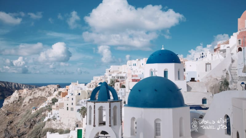 Santorini Greek Island with airport (JTR) Greece best greek islands to visit in June