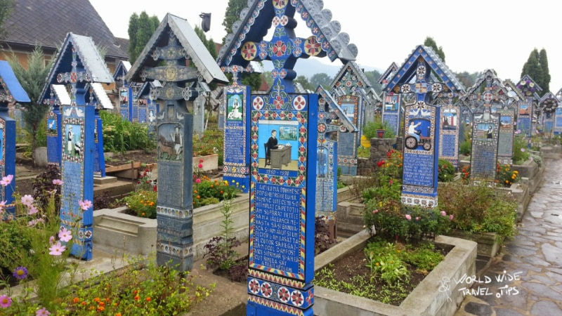 Sapanta the Merry Cemetery in Romania Maramures