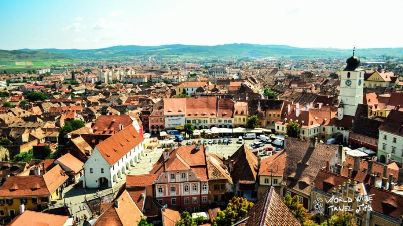 Sibiu city Romania Transylvania