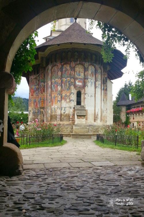 The painted monasteries in Romania Bucovina