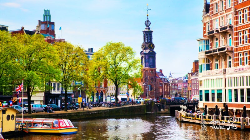Amsterdam Old Town Canal Netherlands