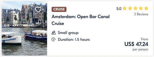 Amsterdam Open Bar Canal Cruise