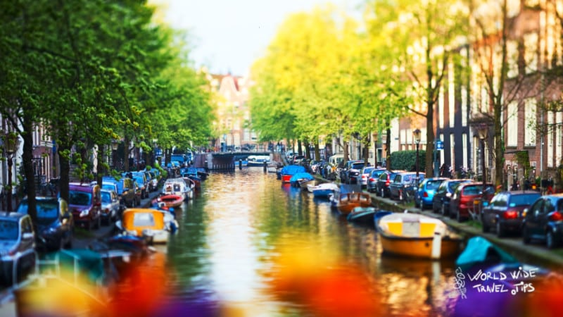 Amsterdam canals city of Netherlands