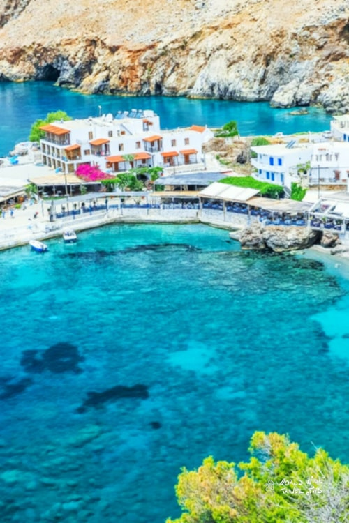 Chora Sfakion Sfakia Chania Crete Greek Village Greece