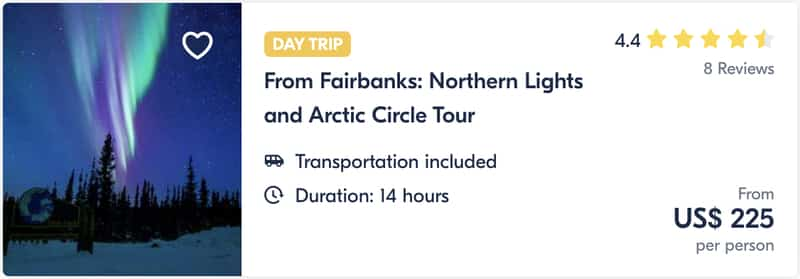 From Fairbanks Northern Lights and Arctic Circle Tour Guide Tour