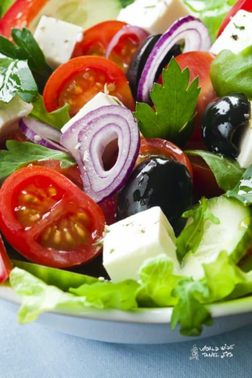 Greek Salad with Feta Cheese Crete Greece