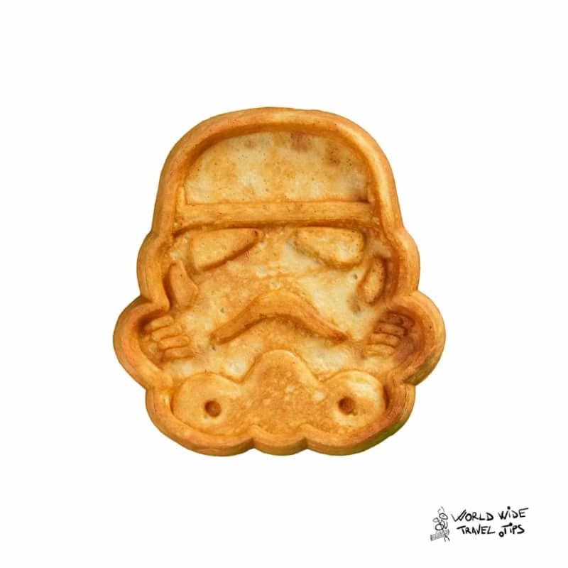 Imperial stormtrooper cheese waffle Disneyland Paris
