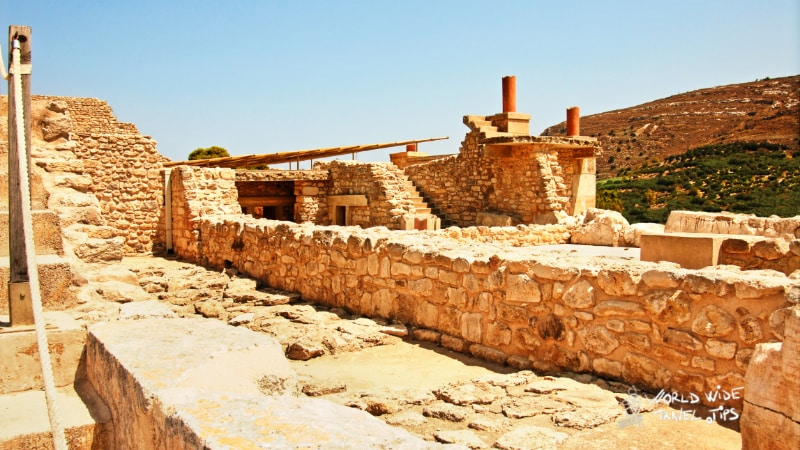 Ruins of knossos palace crete Greece Temple