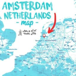 Where is Amsterdam in Europe Netherlands map