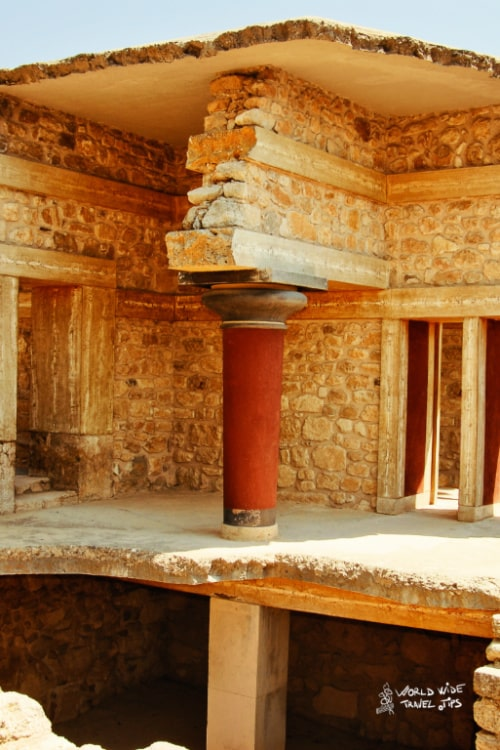 palace ruins of Knossos Crete Greece