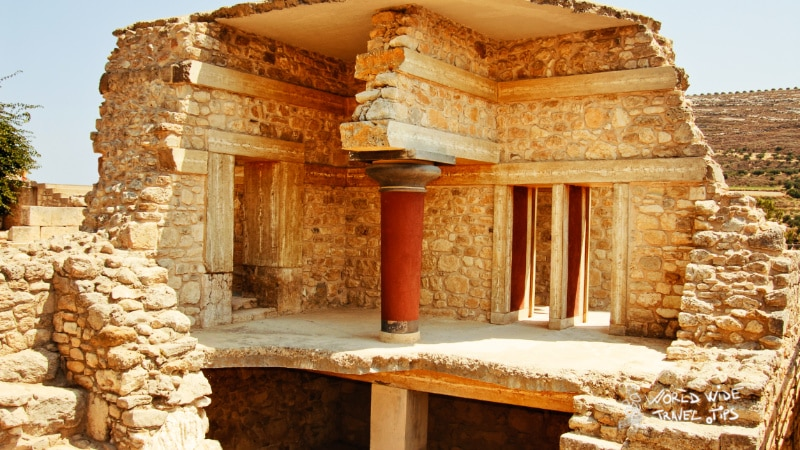 palace ruins of Knossos Crete Greece
