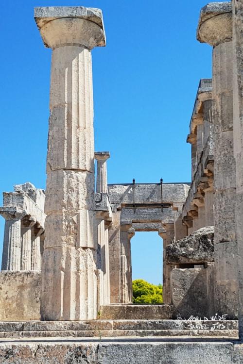 Temple of Aphaia Aegina Greece Greek islands near Athens