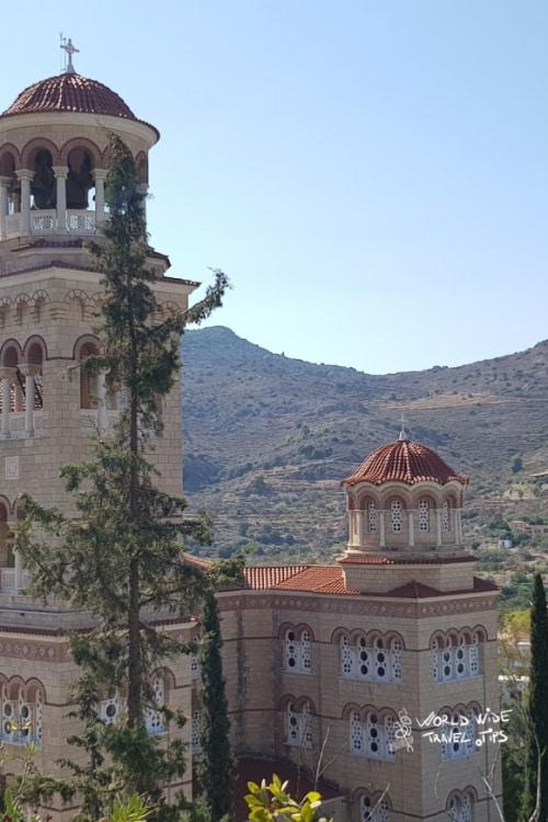 Aegina Greek Islands around Athens Monastery of Agios Nektarios Church