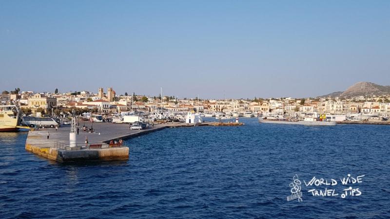 Aegina Port Greece Island near Athens close to Athens