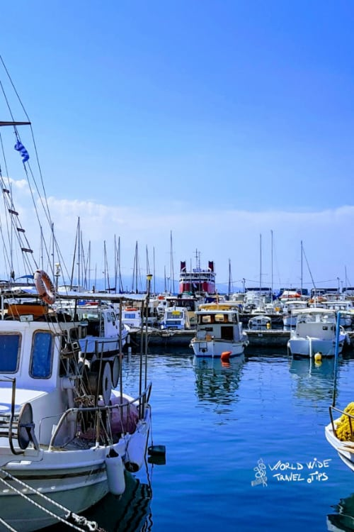 Harbour Aegina Port Ships Fishing Boats Greek Islands close to Athens