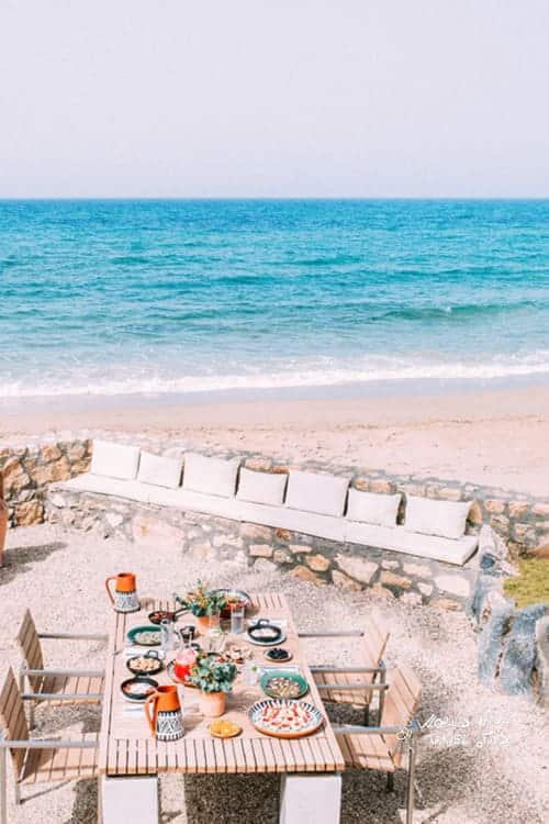 Amirandes Grecotel Crete villas dining by the beach amirandes hotel