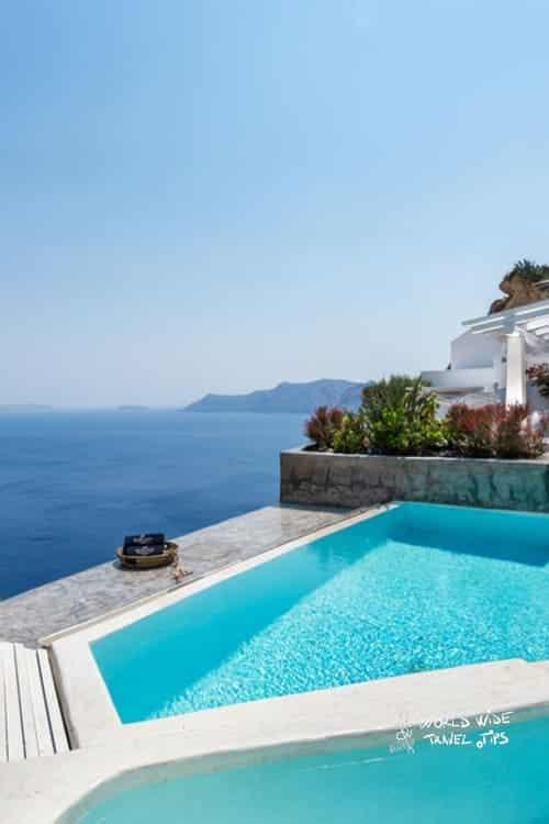 Andronis Suites Luxury Pool area