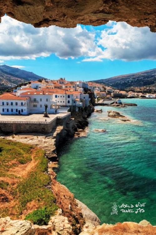 Andros Island Greek Islands near Athens Greece
