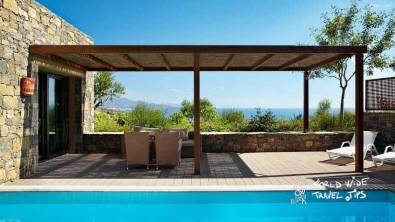 Daios Cove suite Pool area