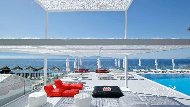 Dimitra Beach Hotel Pool Sunbeds