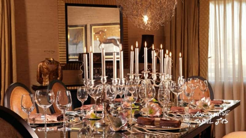 Divani Caravel Hotel Presidential suite dining room