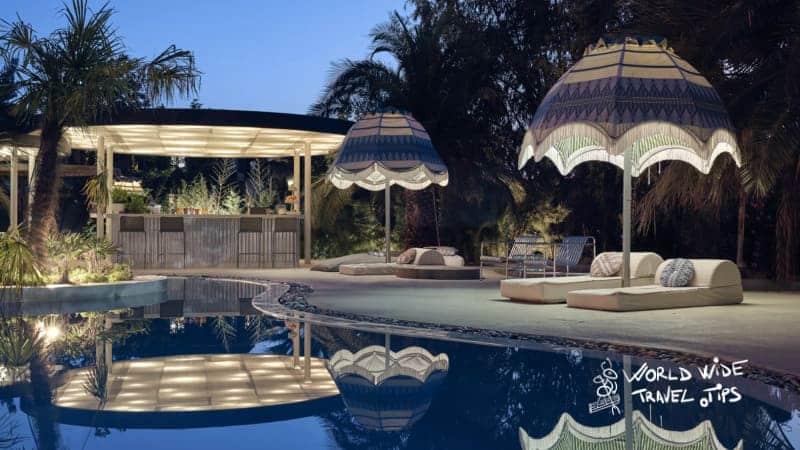 Ekies All Senses Resort Pool Night