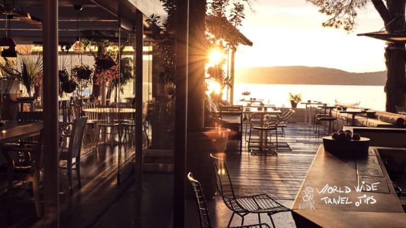 Ekies All Senses Resort Restaurant Terrace Sunset