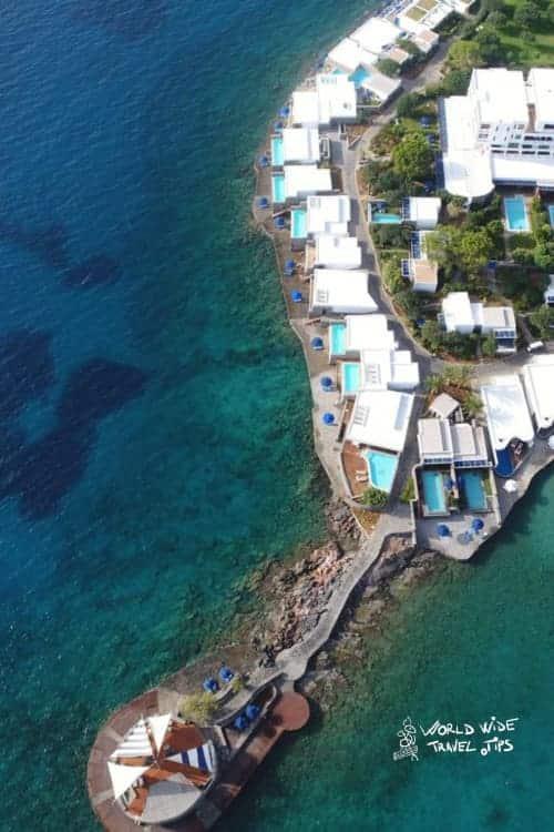 Elounda Beach Hotel Villas aerial overview