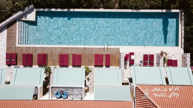 Emelisse Nature Resort pool view from above