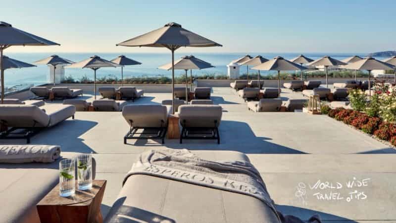 Esperos Village Blue and Spa Terrace sun beds