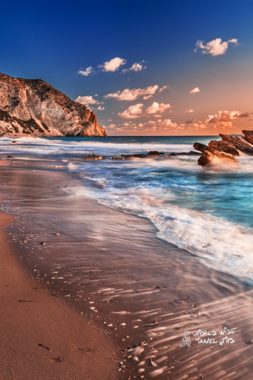 Exotic Beach sunset Cavo Paradiso Kos Island Greek Islands Cavo Paradise Beach