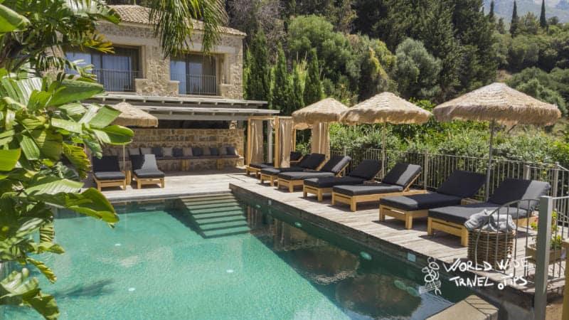 luxury hotels Kefalonia Greece F Zeen Boutique Private Luxury Villa with amazing pool