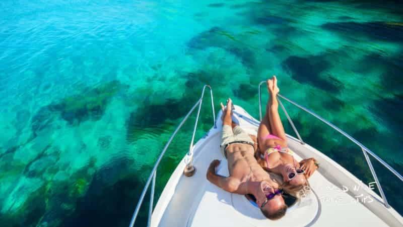 F Zeen Boutique yacht turquoise water Greece