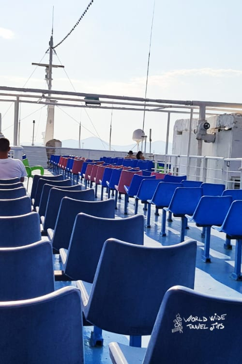 Ferry from Athens to Aegina Greek Island Greece