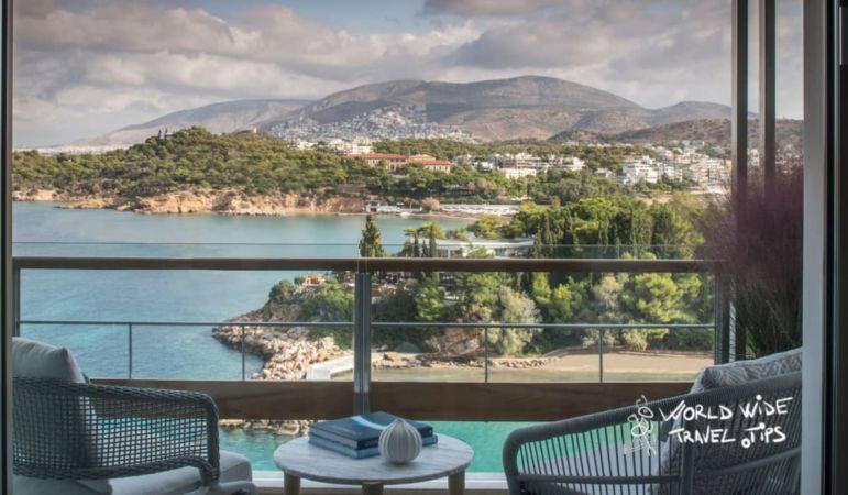 Four Seasons Astir Palace Hotel Balcony view luxury hotels Athens Greece